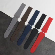 30*20mm Watch accessories For Hublot strap series buckle men's and women's the best watch brand fusion silicone sports strap(China)