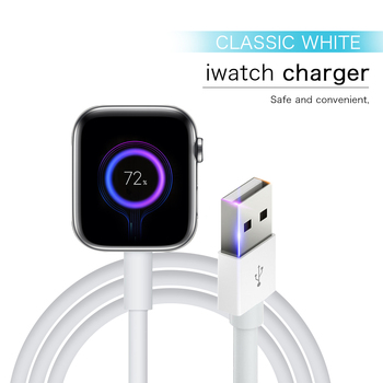 portable mini wireless charger for iwatch pocket magnetic charging dock station usb qi charger for apple watch series 1 2 3 4 Fast Portable Qi wireless charger for iWatch Series 6 5 4 3 USB magnetic iWatch charger Charging cable for Apple Watch