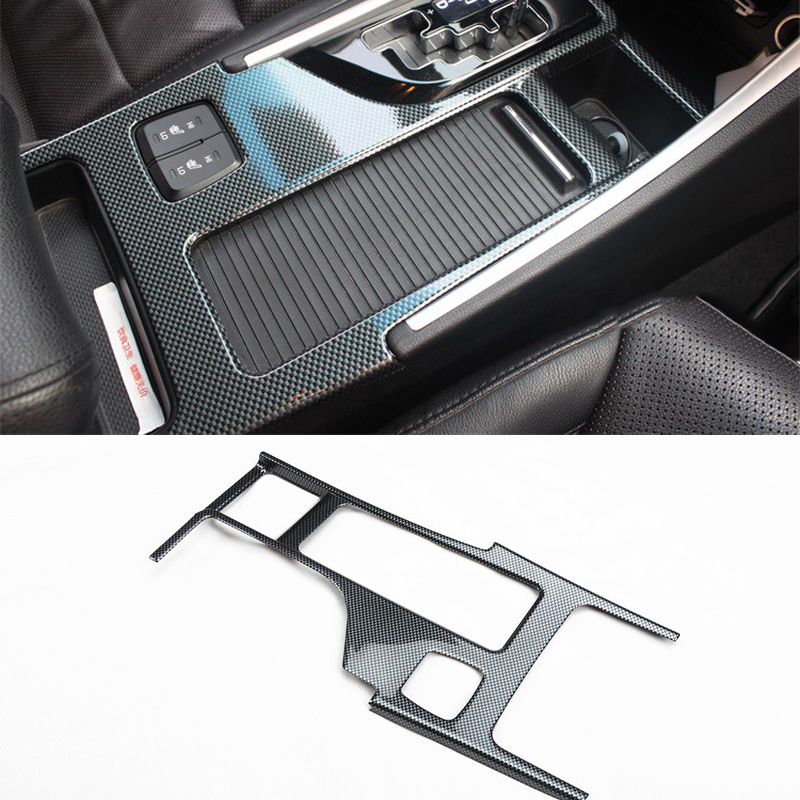 For Hyundai Sonata 2010 2011 2012 2013 2014 2015 YF Carbon Style Gear Box Panel Water Cup Holder Cover Trim Car-Styling