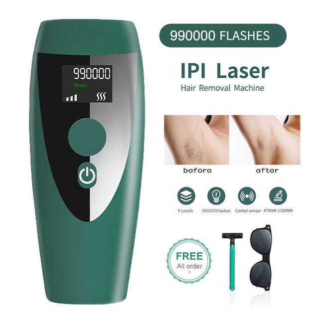 Electric IPL Laser Epilator for Women Hair Removal Machine Permanent Photoepilator Painless Epilator 990000 Flashes Quita Pelos