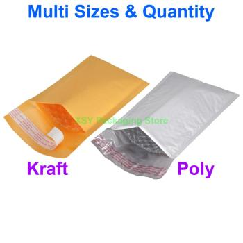 Poly Bubble Padded Envelopes Postage Shipping Mailers Bags 3 x 6 / 4 x 7 / 5 x 8 (75 x 150mm / 100 x 175mm / 130 x 205mm) 500 pieces 2 5 x 3 65 x 75mm clear bubble bags small size plastic packing envelopes poly pouches mini package roll pack bag