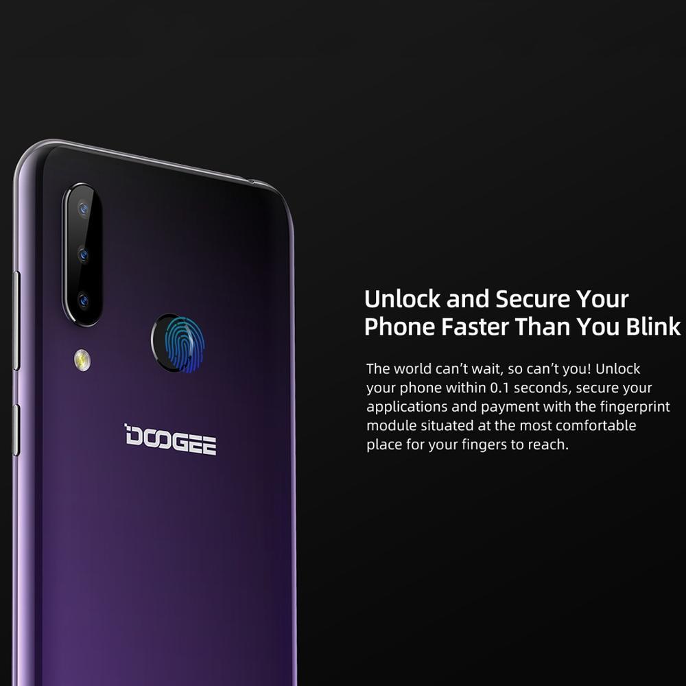 DOOGEE N20 téléphone portable Android 9.0 4G LTE MTK6763V octa-core 4GB RAM 64GB ROM 6.3