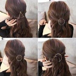 Fashion Women Round Moon Hair Clip Hairpin Barrette Hair Accessory A91