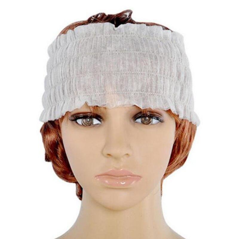 10/20/30Pcs Disposable Headbands Elastic Non-woven Hairband Women SPA Salon Headwear Hair Accessories Bathroom Makeup Tool