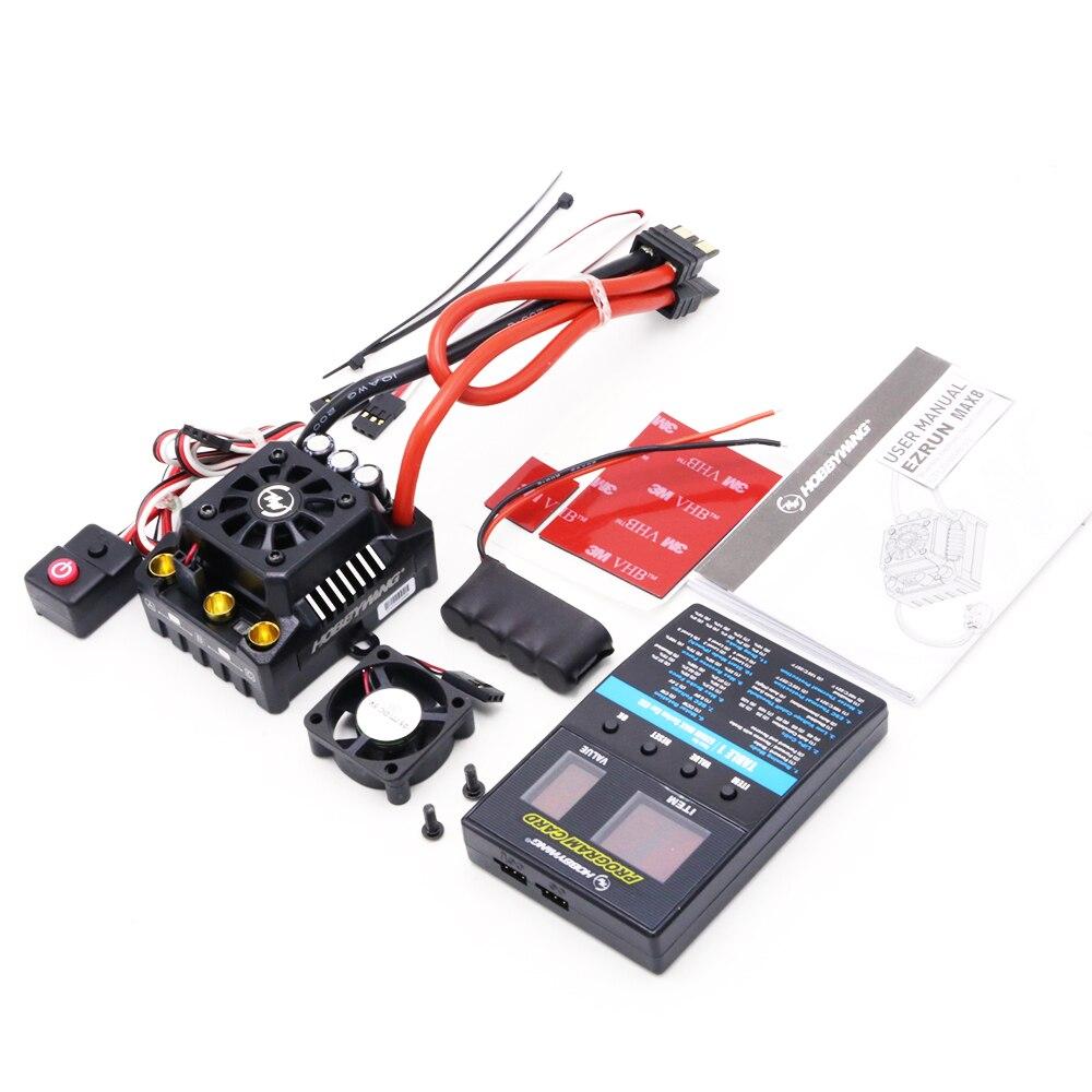 Hobbywing EzRun Max8 v3 150A étanche sans balais ESC T/TRX Plug + 4274 2200KV moteur + LED programmation pour 1/8 RC voiture camion - 2