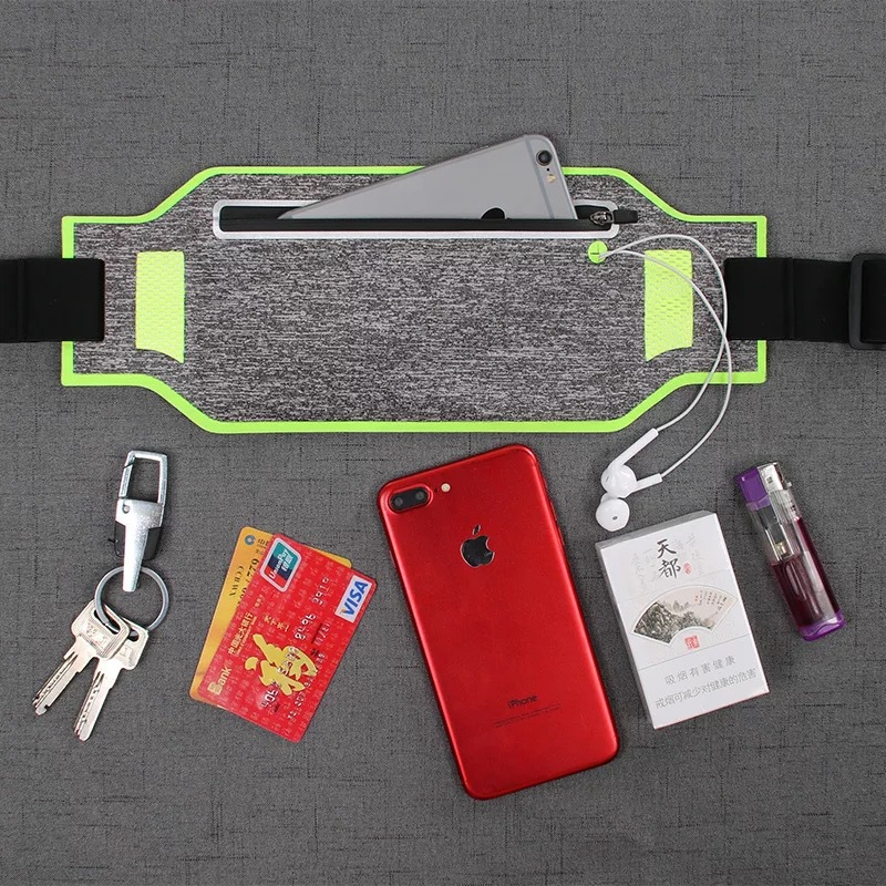 Sports Waist Pack Waterproof Hidden Body Hugging Anti-Theft Outdoor Mobile Phone Waist Bag Ultra-Thin Running Mobile Phone Bag C