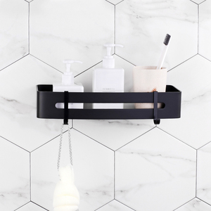 Image 3 - Bathroom Shelf Cosmetic Rack With Single Lever shower shelf Bathroom Accessories Toilet Powerful Suction Towel Hook