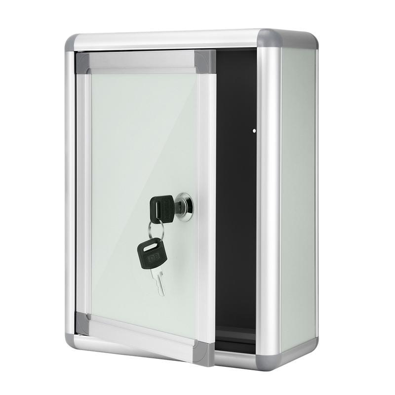 STOBOK Small Suggestion Box Mailbox With Lock Wall Hanging Complaint Suggestion Box Aluminium Alloy Box