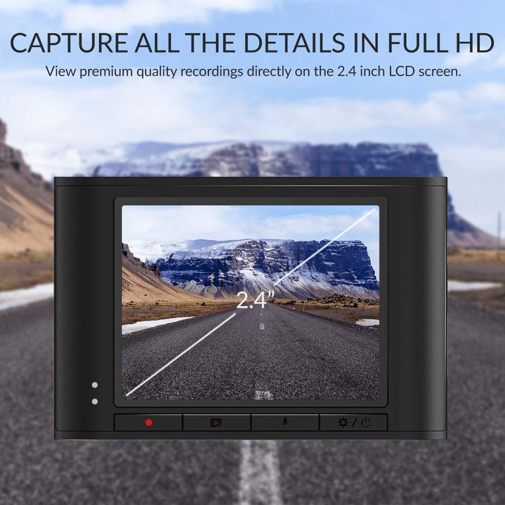 Видеорегистратор YI Nightscape Dash | Широкоугольный объектив 140 градусов | 2.4