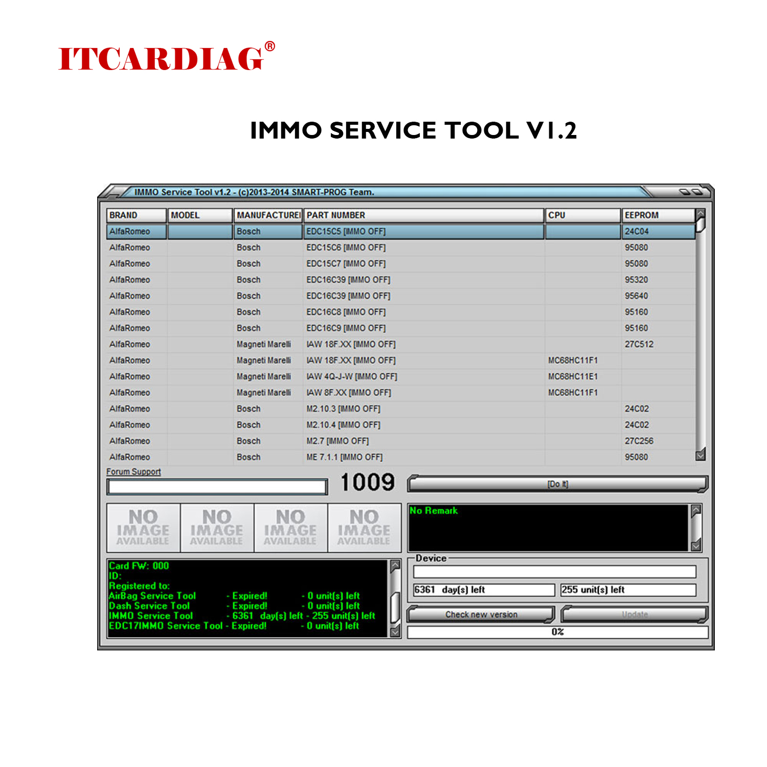 2019 Edc 17 IMMO SERVICE TOOL V1 2 PIN Code and Immo off Works Without Registration For AlfaRomeo Audi BMW Citroen Fiat