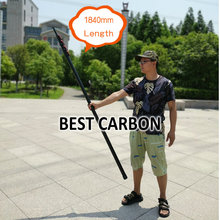 Free shiping Max 7.8 meters High quality Twill Matte Carbon Fiber Telescopic Tubes, cleaning pole