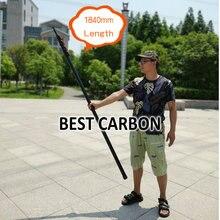 Livre shiping max 7.8 metros de alta qualidade sarja matte fibra carbono tubos telescópicos, pólo limpeza
