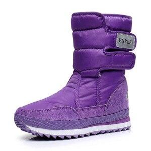 Image 2 - Dwayne womens snowboots waterproof warm plush boots non slip snow boots Botas de mujer Botas de invierno de mujer plus size