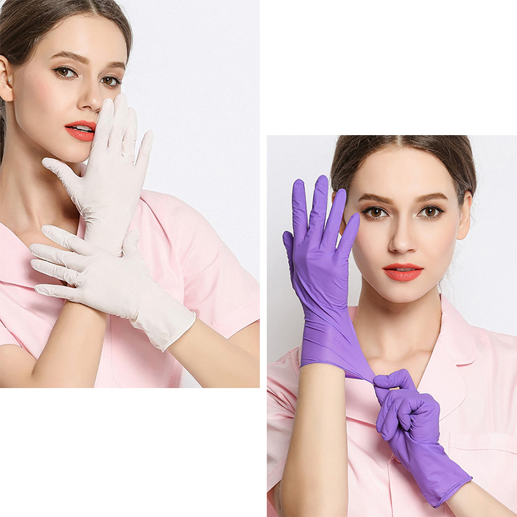 Hot 50pcs/pack Latex High Elasticity PVC Inspection Protective Surgical Gloves Anti Virus Influenza Bacteria Oil Hygiene Kitchen