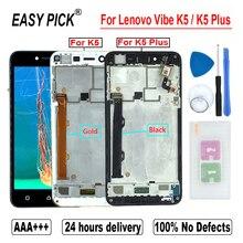 Pantalla LCD para Lenovo Vibe K5 A6020A40 A6020a41 MONTAJE DE digitalizador con pantalla táctil para Lenovo K5 Plus A6020A46 A6020l36 a6020l37