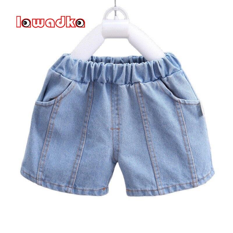 Lawadka letnie spodenki chłopięce Denim bawełniane szorty dla chłopców dorywczo stałe dzieci plaża krótkie spodnie sportowe odzież dla dzieci 2021 nowość