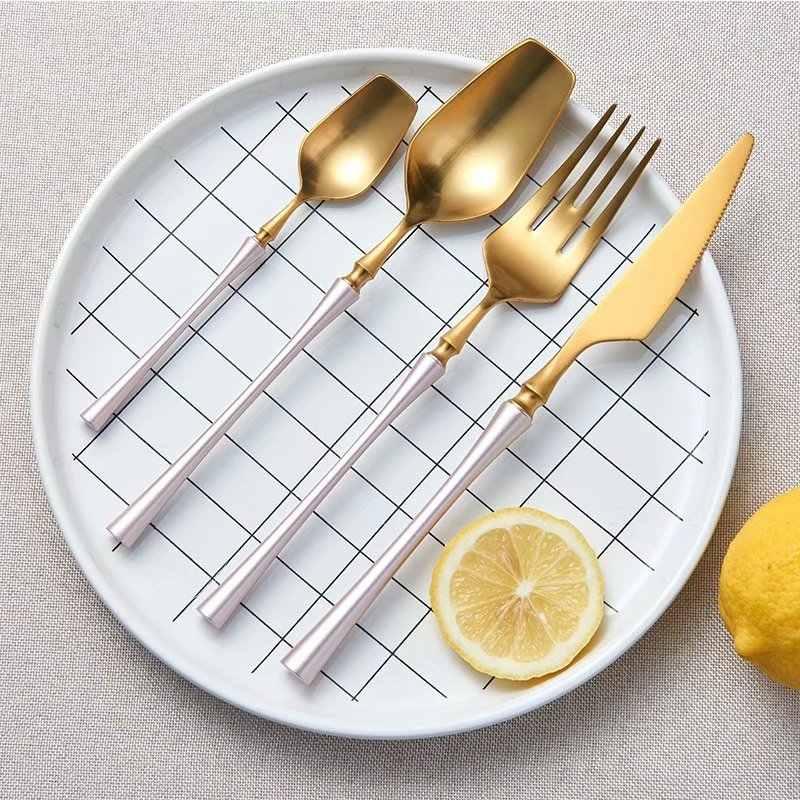 Spklifey เหล็กชุดช้อนส้อมมีดสแตนเลสมีดช้อนส้อมมีดชุดอาหารเย็นห้องครัวช้อนส้อมและช้อนส้อมชุดอาหารชุด