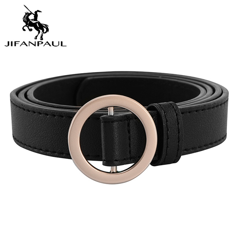 JIFANPAUL Women Belt Round Alloy Pin Belt Jeans Wild DecorationFashion Vintage Ladies Leather New Hot Sale Belt Free Shipping