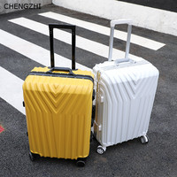 CHENGZHI Trolley suitcase aluminum frame/zipper 2022242629inch retro ABS rolling luggage spinner wheels carry ons travel bag