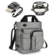 Bolso de hombro para hombre, bandolera cruzada multifuncional Satchel de negocios Sling Travel iPad documentos maletín