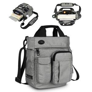 Image 1 - 망 숄더 백, 다기능 크로스 바디 메신저 백 비즈니스 사첼 슬링 여행 iPad 서류 가방 서류 가방