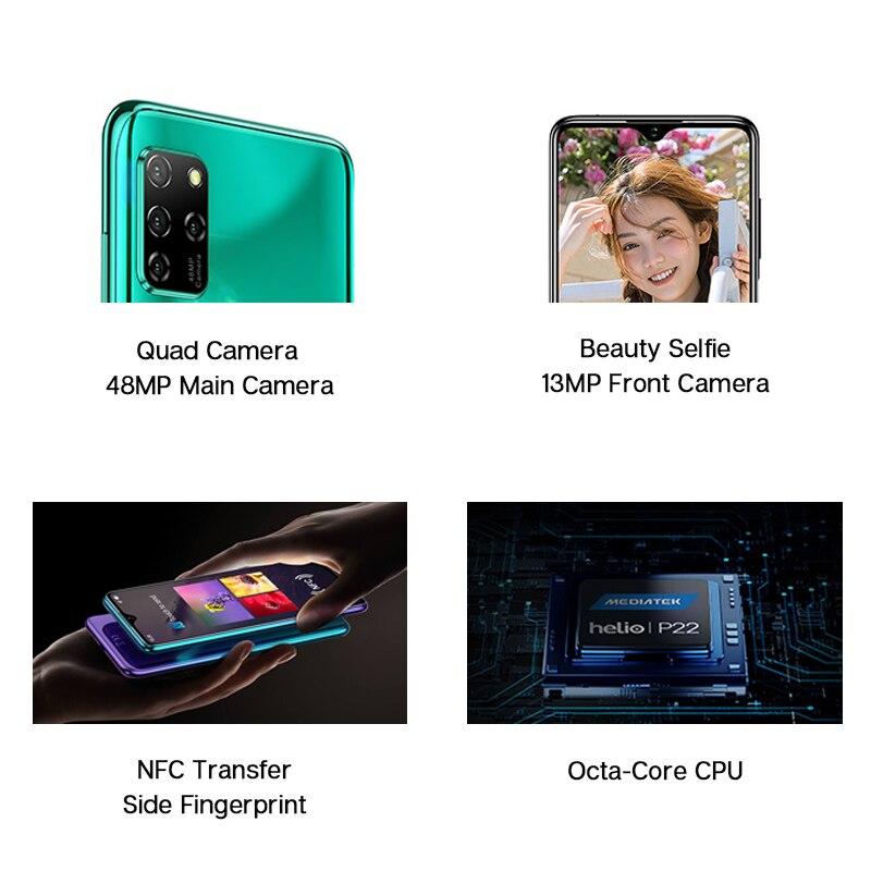 "ELEPHONE E10 Octa Core Smartphone 4GB 64GB 6.5"" Screen Quad Camera 48MP Main Cam Android 10 NFC Side Fingerprint Mobile Phone 2"