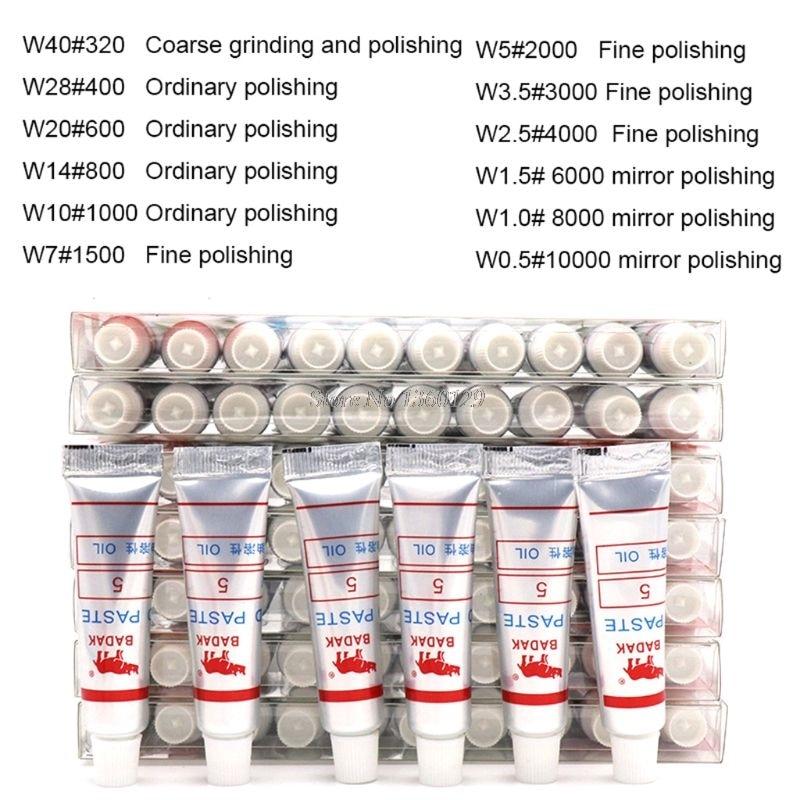 12pcs Diamond Polishing Lapping Paste Compound Syringes 0.5 ~40 Micron Glass Metal Grinding Polishing Abrasive Tools Dropship