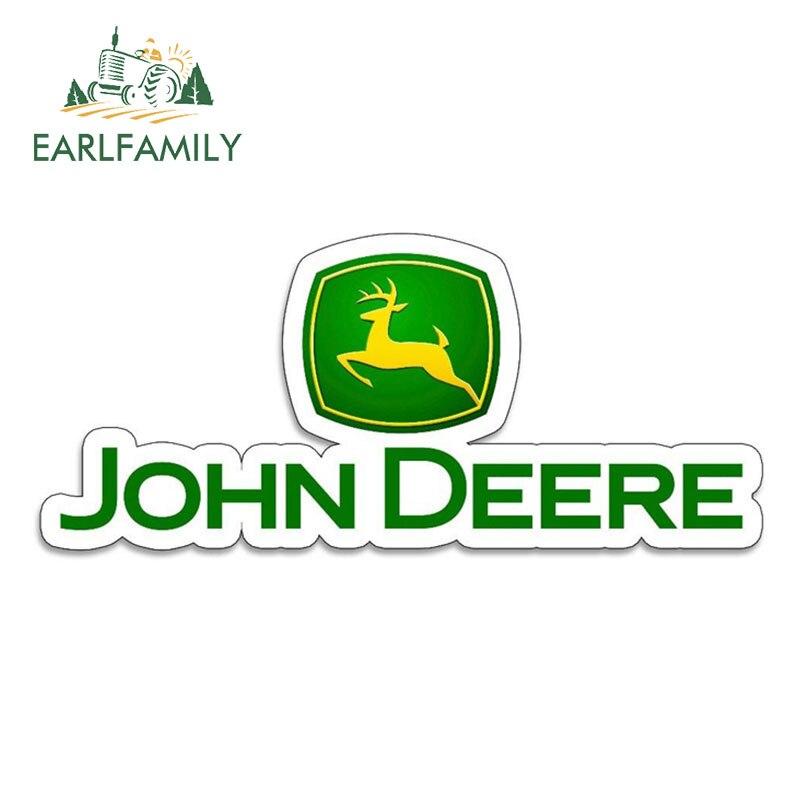 EARLFAMILY 13cm X 5.6cm Vinyl Stickers For JOHN DEERE Farm Tractor Gator Farming AUTO MOTO Car Tuning Side Stickers Funny Decal