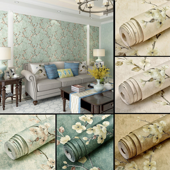 American Rustic Floral Wallpaper 3D Vine Flower Non-woven Vintage Classic Damask Wallpaper Roll Retro Living Room Bedroom Decor 3d flower floral wallpaper roll contact paper non woven embossed pink wallpaper for girls bedroom living room decor wallcovering