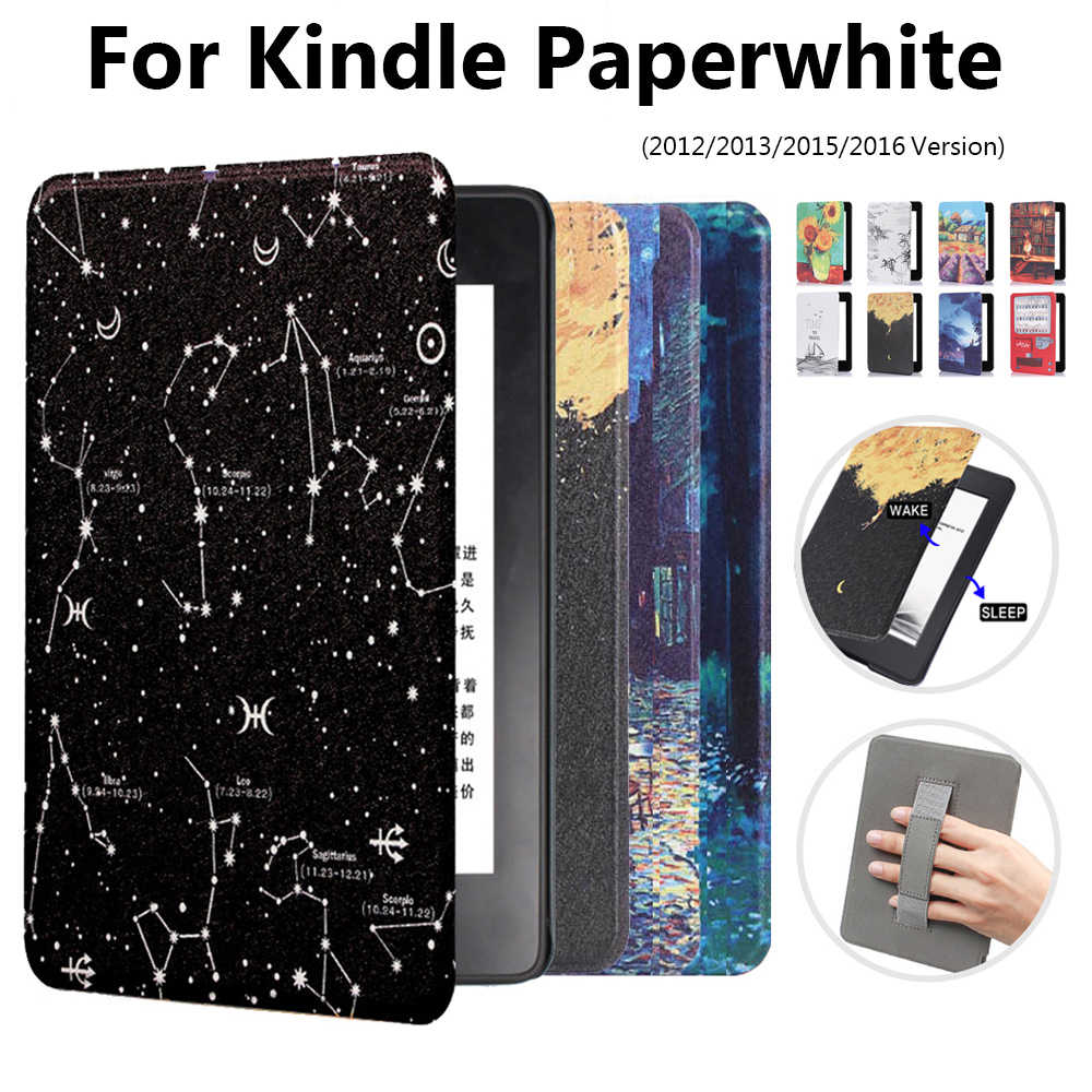 "1 Pc Ultra Slim Leather Smart Case Magnetische 6 ""E-Boeken Reader Cover Voor Amazon Kindle Paperwhite 1 /2/3/4"
