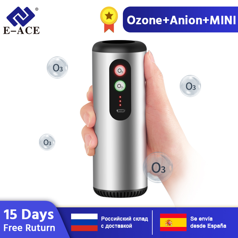 E-ACE M03 Car Air Purifier Air Anion Ozone Generator with HEPA Filter Fresh Air Cleaner for Car Home Office Sterilize(China)