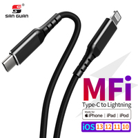 Factory MFI 1M USB C Lightning for iPhone fast charge with C94 MFI Approval PD30W 8Pin for iPhone11 Pro XS XR iPad Pro Air Mini|Mobile Phone Cables|Cellphones & Telecommunications -