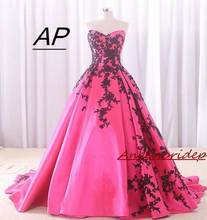 Angelsbridep sweetheart ball gown quinceanera dress 2020 레이스 업 백 스위트 16 드레스 블랙 아플리케 vestidos de quinceaneras(China)