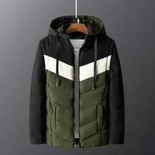 Fashion Winter Jacket Men High Quality Spliced Designer Thick Hooded Coats Warm Parka British Down Jackets Hombre