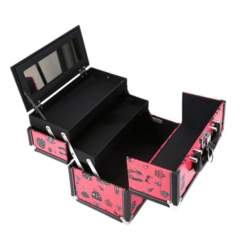 Портативный косметический чехол, портативная косметичка большой емкости, алюминиевый косметический чехол, органайзер для путешествий