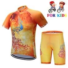 Детский спортивный костюм для велоспорта с коротким рукавом