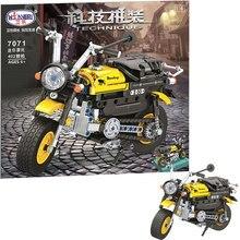 MOC City Mini motorcycle 402pcs High-tech DIY Creator Model Building Blocks Bricks educational Toys For Kid Gifts brinquedo