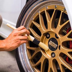 Image 5 - SPTA Car Detailing Cleaning Brush Wooden Handle Bristle Brush Versatile Cleaning Tools for Door Handle, Steering Wheel, Tire