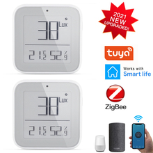 New Tuya ZigBee WIFI Smart Home Temperature And Humidity Sensor With LED Screen Works With Smart Life And Tuya Zigbee Gateway cheap centechia NONE CN (Herkunft)