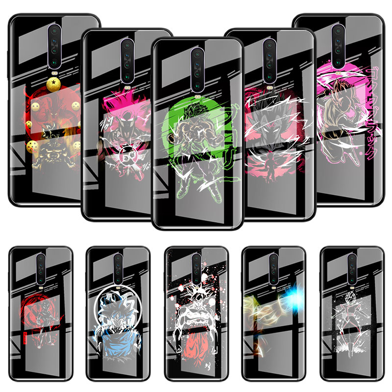 Dragon Balls Goku Glass Case For Xiaomi Redmi Note 9S 8T 9 8 7 8A K20 K30 Pro Zoom 6 Tempered Phone Carcasa Capas