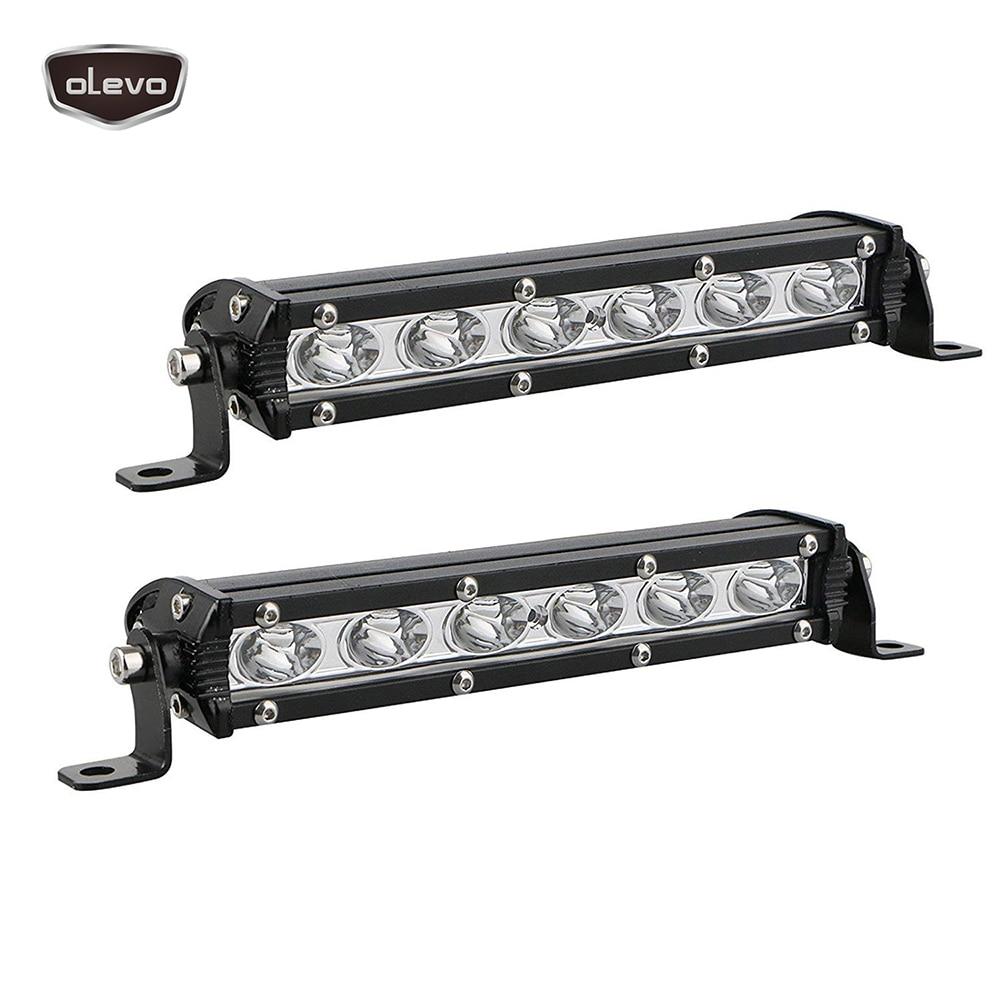 2PCS Led Bar Offroad LED Headlights 6LED Work Light Bar 18W 12V 6500K 7500K  Fog Light Motorcycle Ice Lamps For Cars Car Light