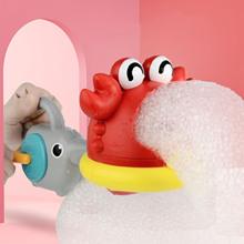 Maszyna do baniek mydlanych kraby Shark zabawki do kąpieli dla niemowląt zabawka do kąpieli dla dzieci wanna mydło instrukcja Bubble Maker zabawka łazienkowa dla dzieci prezenty tanie tanio HAIMAITONG CN (pochodzenie) 13-24m Z tworzywa sztucznego Pistolet wypuszczający bańki Unisex Zwierząt Nietoksyczne Bubble Blowing Toy