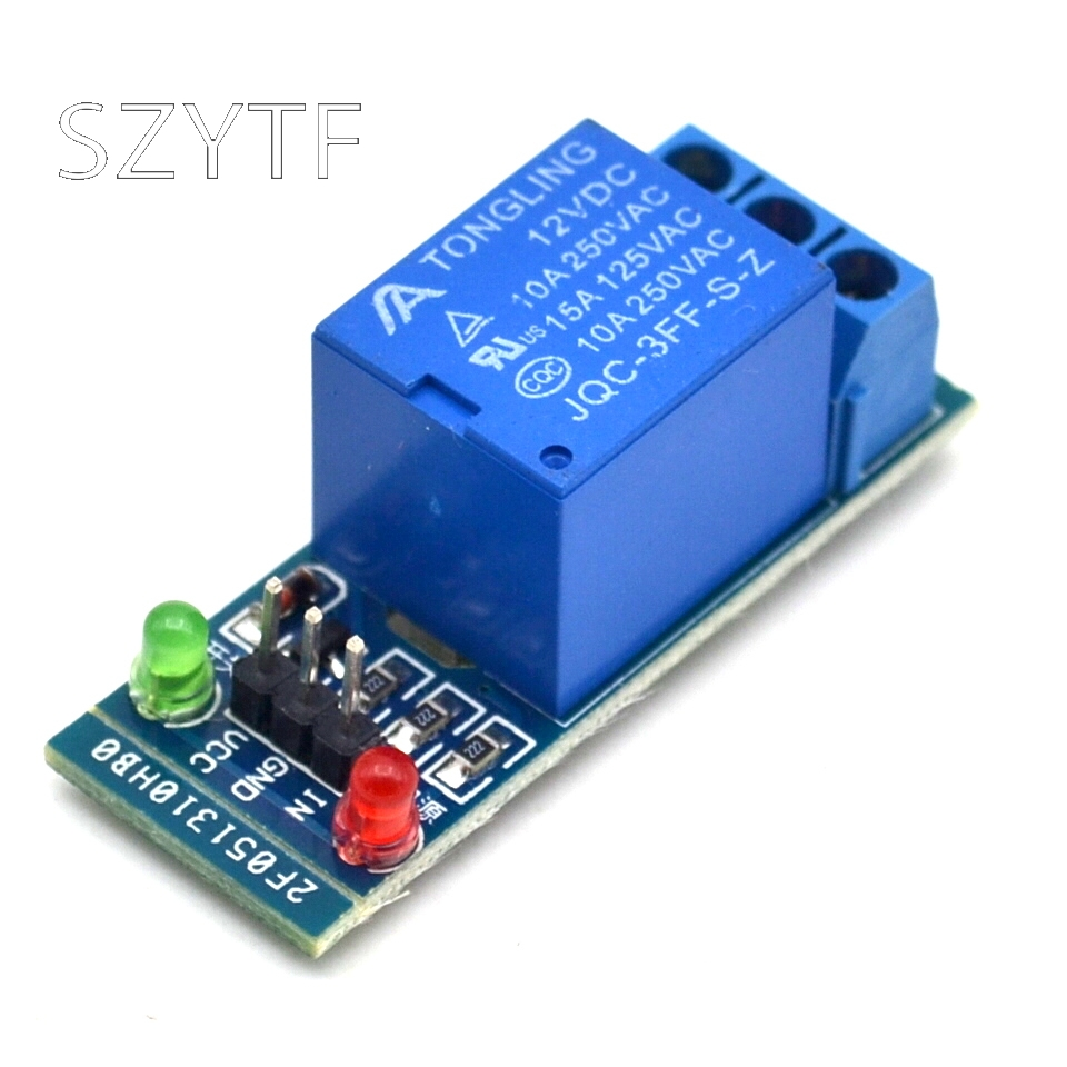 5V <font><b>12V</b></font> <font><b>24V</b></font> low level trigger One 1 Channel Relay Module interface Board Shield For PIC AVR DSP ARM MCU for <font><b>Arduino</b></font> image