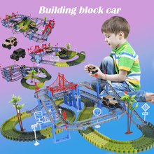 Play-Set Railway Educational-Toys Flash-Track Race Army Magical Glowing Military Children
