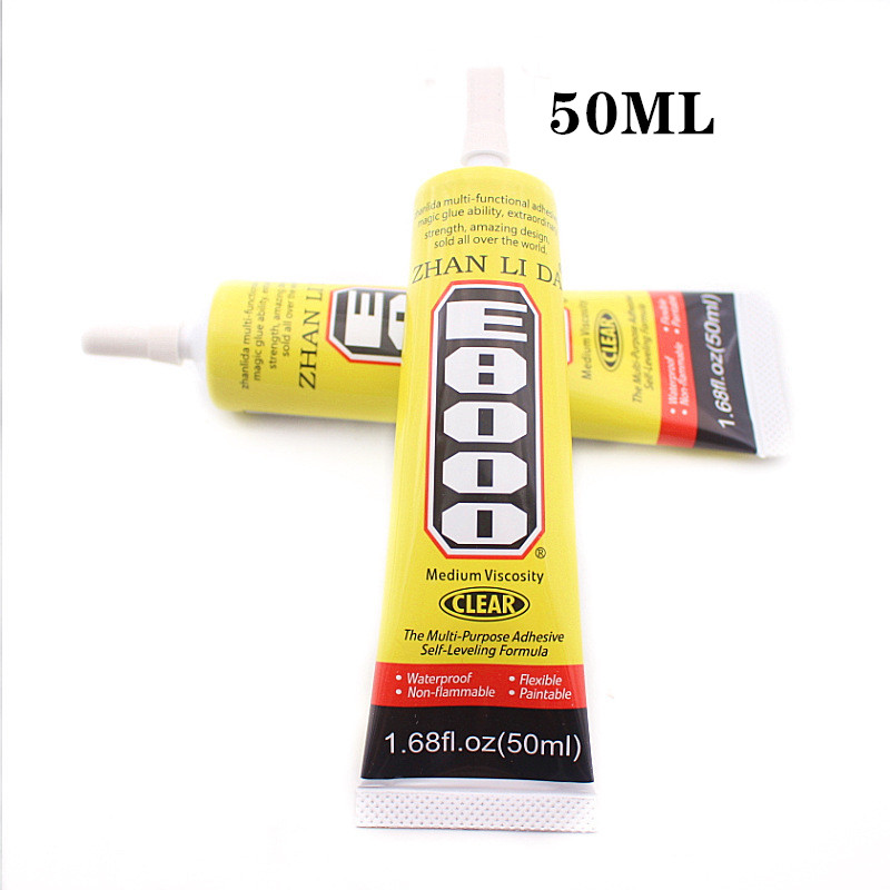50ml MultiPurpose E-8000 Industrial Adhesive Jewerly Craft Rhinestone And Nail GelE8000 Diy Phone Frame Fix Screen Glass Glue