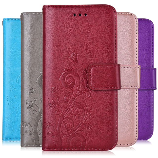 On iPhone 5 Wallet Case for iPhone 5 5S 6 6S Plus Cover for iPhone 7 8 Plus Coque Kickstand With Card Pocket Fitted Case