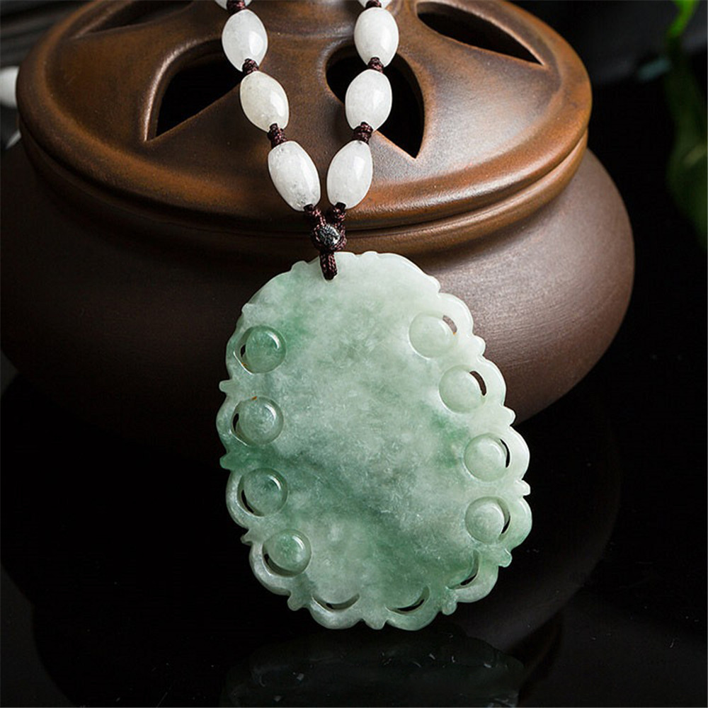 100/% natural Burma jadeite jade hand-carved zodiac dragon talisman pendant