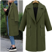 Womens Winter Lapel Wool Coat Trench Jacket Long Overcoat Outwear Women Overcoat Wool Coat Autumn Winter Jacket Clothes 9.5 women winter warm lapel trench parka coat jacket long slim overcoat outwear