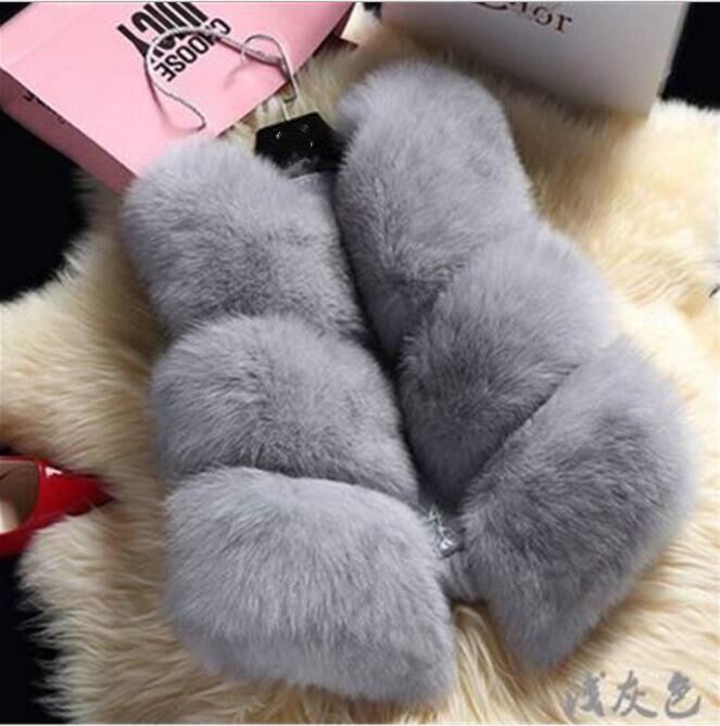 New Arrival !!!2019 Short Design Female Fox Fur Vest   Leather   Vest Outerwear Plus Size Fur Vest Women Coats Faux Fur Jackets