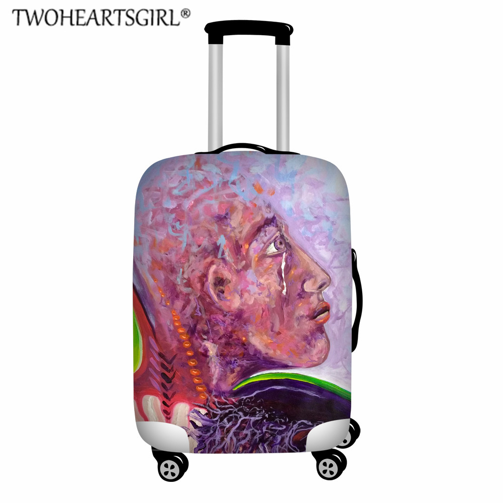 Twoheartsgirl Art Oil Painting Luggage Protective Cover Custom Image Travel Accessorie Elastic Suitcase Cover Dust Trolley Cover